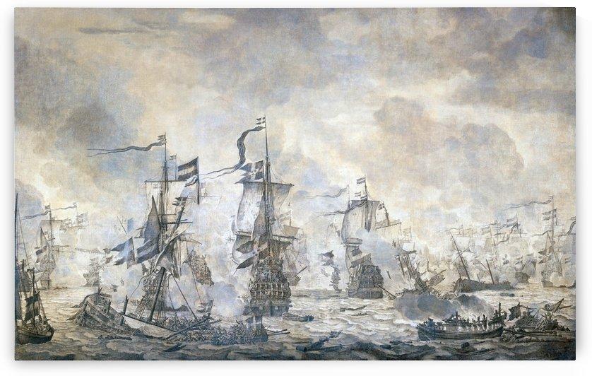 Slag in de Sont by Willem van de Velde I