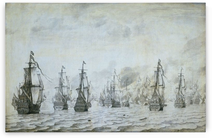 The unsuccessful English attack against the returning Dutch by Willem van de Velde I