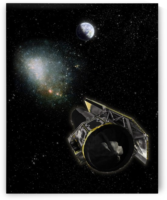 Earth a Milky Way object and the Spitzer Space Telescope. by StocktrekImages