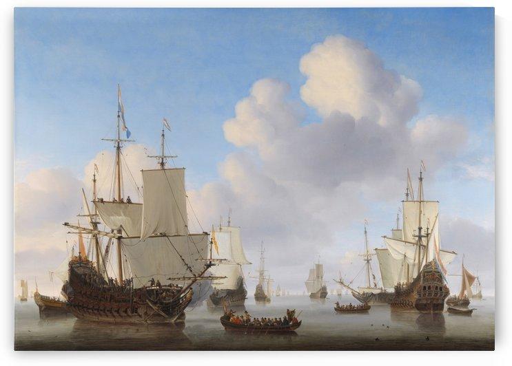 Dutch Ships in a Calm by Willem van de Velde II