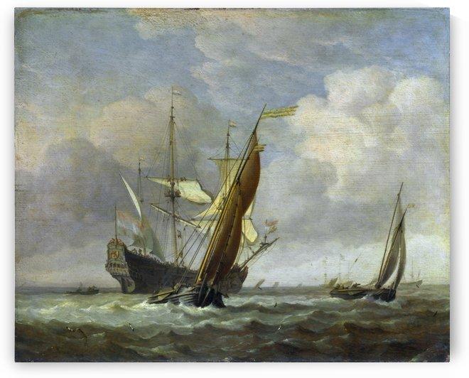 Small Dutch Vessels in a Breeze by Willem van de Velde II