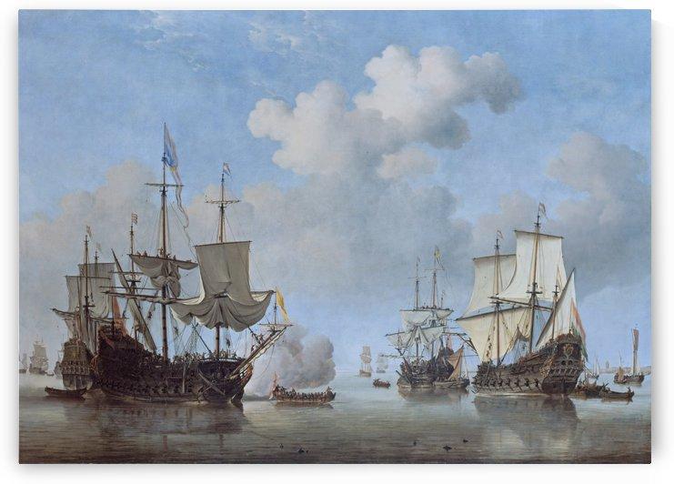 Dutch Ships Coming to Anchor by Willem van de Velde II