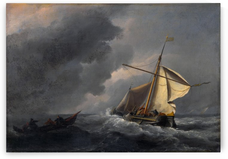 A Dutch Vessel in a Strong Breeze by Willem van de Velde II