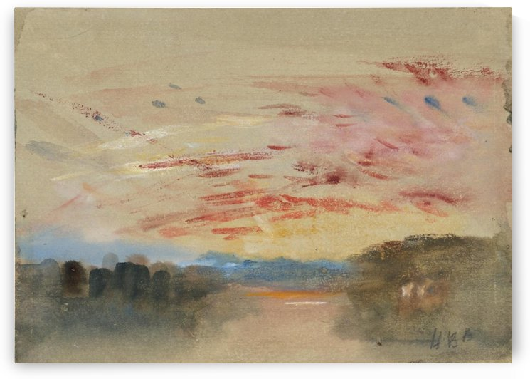 Sunset by Adolphe Monticelli