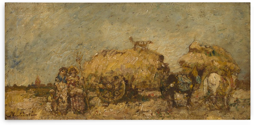 The Hayfield by Adolphe Monticelli