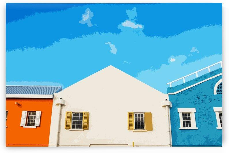 Bridgetown Barbados Art Version by Brian Doherty