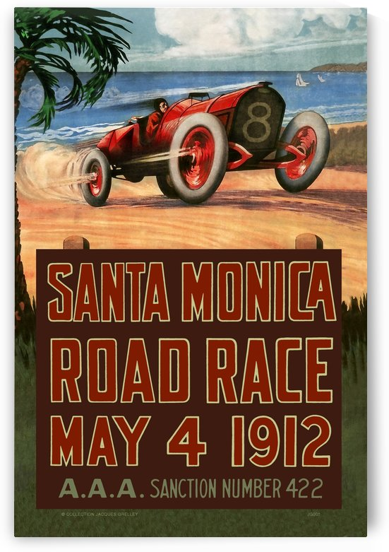 Santa Monica Road Race May 4 1912 - II by RacingCarsPosters