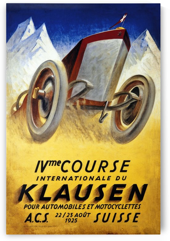 Klausen Suisse Ivme Course Internationale Acs 1925 by RacingCarsPosters