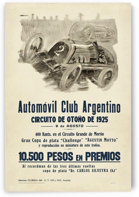 Argentina-circuito-de-otono-gran-copa-de-plata-challenge-automobile-club-argentino-de-1925 by RacingCarsPosters