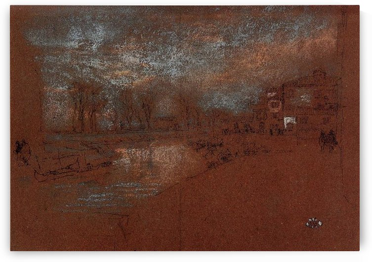 Campo Santa Marta, Winter Evening by Whistler by Whistler