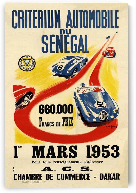 Criterium Automobile du Senegal 660000 Francs De Prix Chamber Commerce Dakar 1953 by RacingCarsPosters