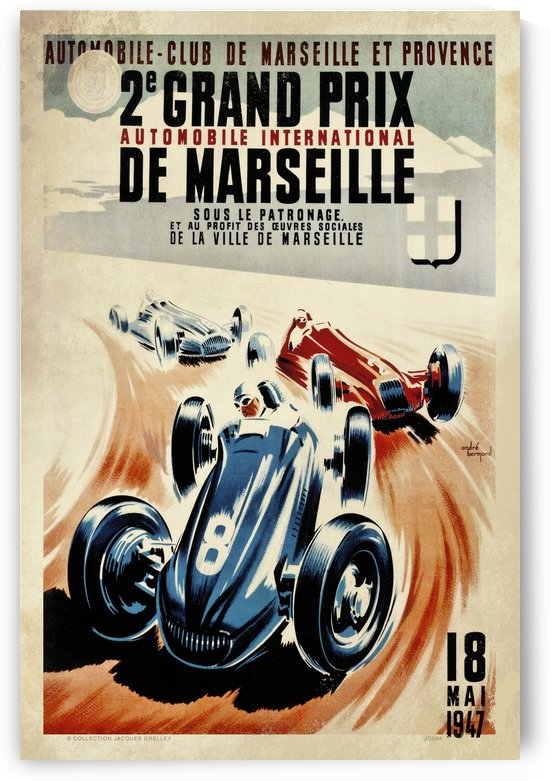 Marseille 2nd Grand Prix Automobile International 1947 by RacingCarsPosters