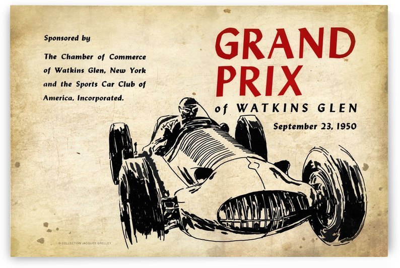 Grand Prix Watkin Glens 1950 by RacingCarsPosters