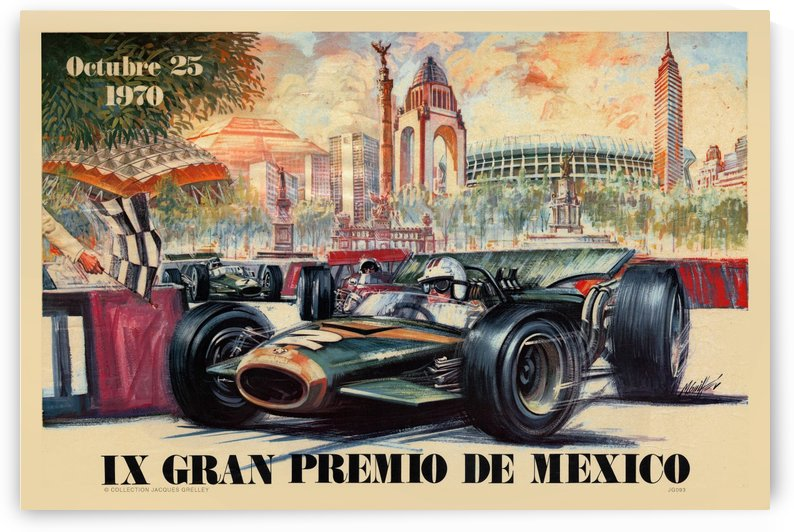 Mexico IX Grand Prix Gran Premio October 1970 by RacingCarsPosters