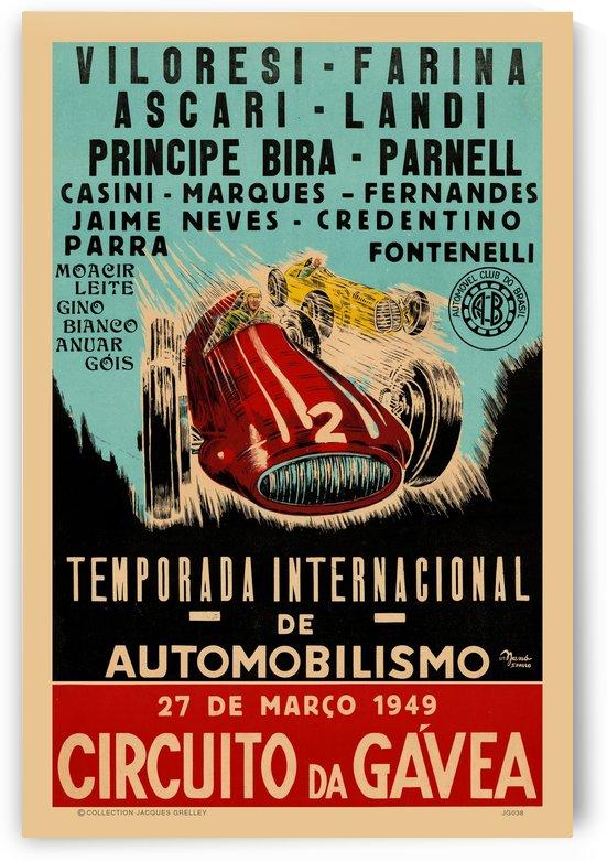 Gavea Circuit Circuito Gavea 1949 Temporada Internacional De Automobilisimo 1949 by RacingCarsPosters