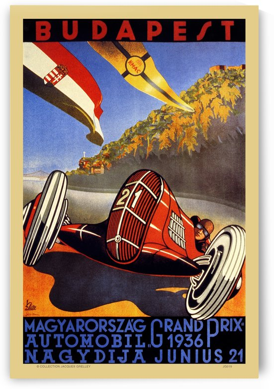 Grand Prix Budapest 1936 by RacingCarsPosters