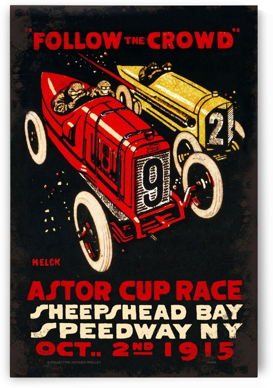 Astor Cup Race Sheepshead Bay 1915 by RacingCarsPosters