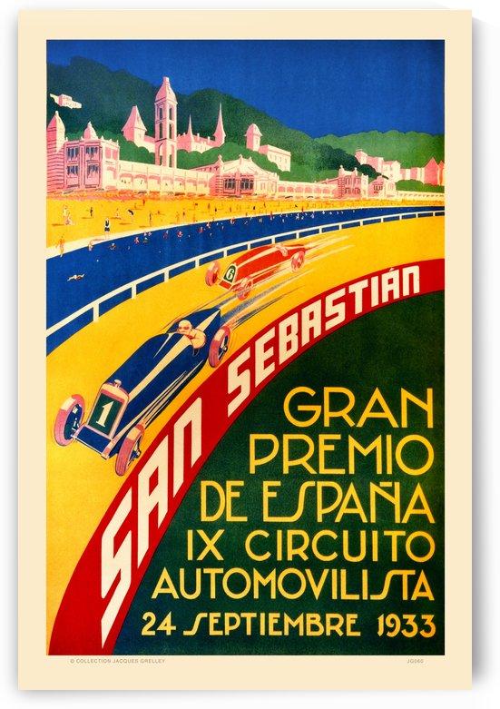 San Sebastian Gran Premio De Espana XI Circuito Automovilista 1933 by RacingCarsPosters