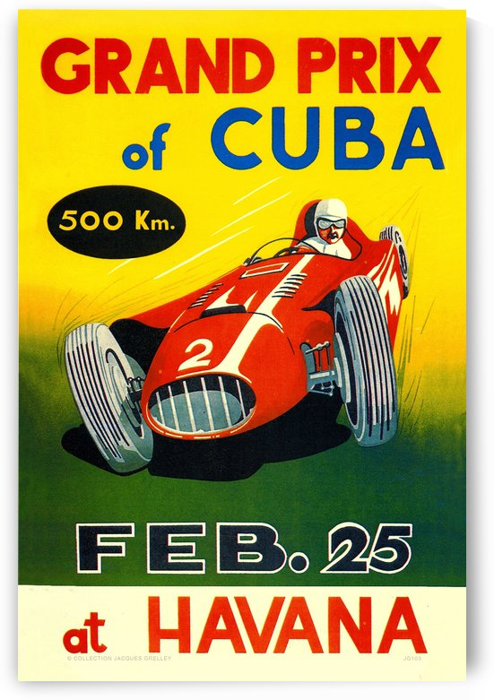 Cuba Grand Prix Havana 1958 by RacingCarsPosters