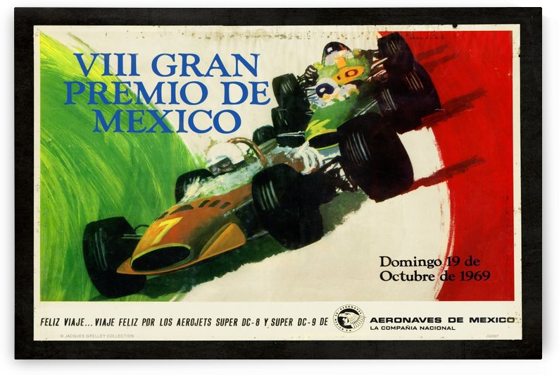 Mexico Grand Prix VII Gran Premio De Mexico 1969 by RacingCarsPosters