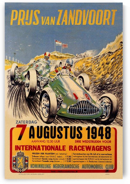 Grand Prix Netherlands Prus Van Zandvoort 1948 by RacingCarsPosters