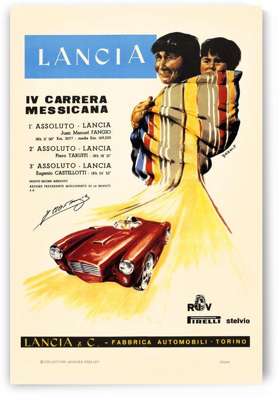 Lancia IV Carrera Messicana 1953 by RacingCarsPosters