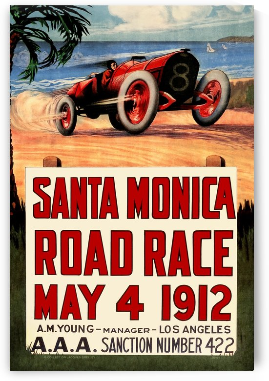 Santa Monica Road Race May 4 1912 - I by RacingCarsPosters