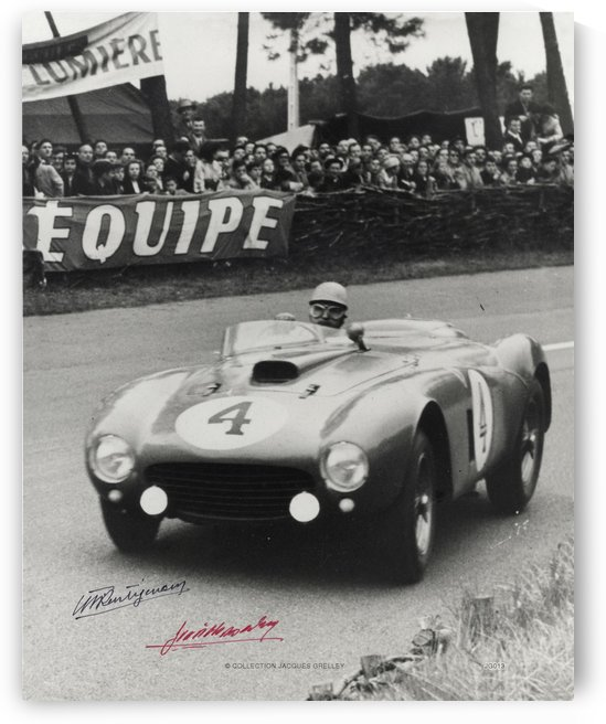 24 Hours Le Mans Signed Maurice Trintignant Jose Gonzalez 1954 by RacingCarsPosters