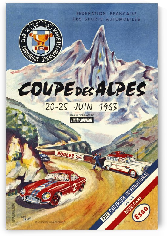 Coupe Des Alpes Federation Francaise Des Sports Automobiles 1963 by RacingCarsPosters
