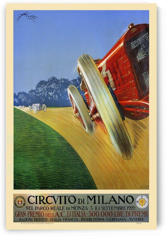 Grand Prix Milan Circvito di Milano 1922 by RacingCarsPosters