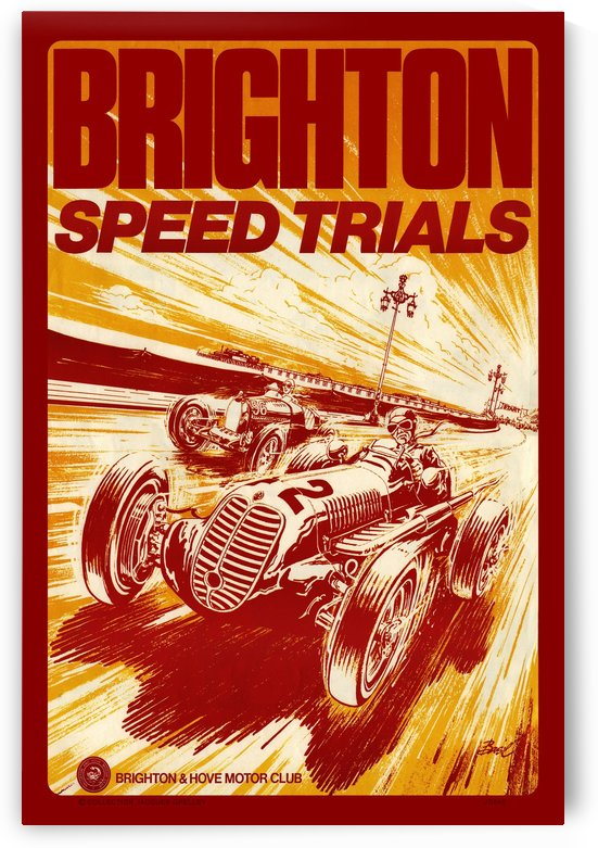 Brighton Speed Trials Hove Brighton Motor Club by RacingCarsPosters