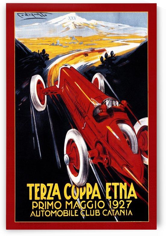 Terza Coppa Etna Primo Maggio Automobile Club Catania 1927 by RacingCarsPosters