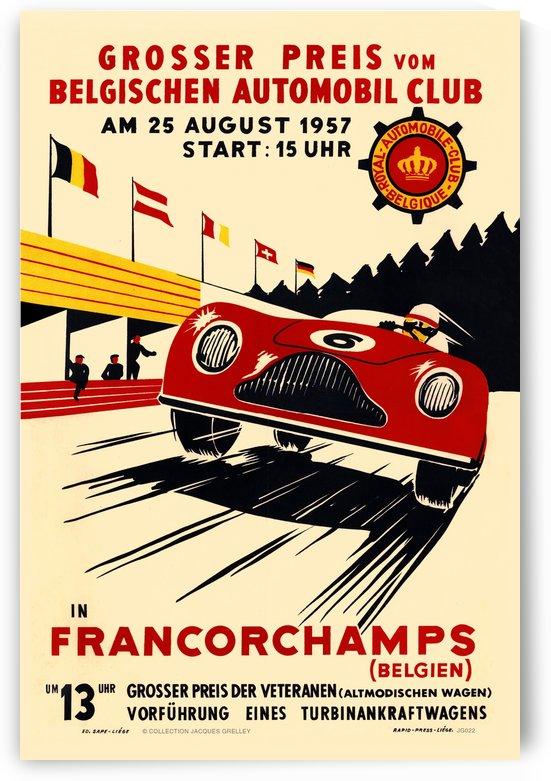 Grand Prix Belgium Grosser Preis Vom Belgischen Automobile Francorchamps Belgien 1957 by RacingCarsPosters