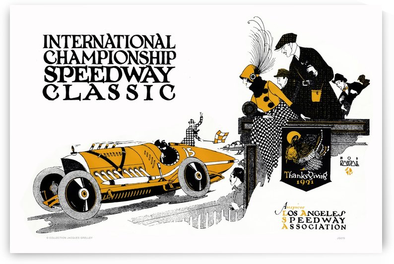 International Championship Speedway Classic Los Angeles Speedway Association 1921 by RacingCarsPosters