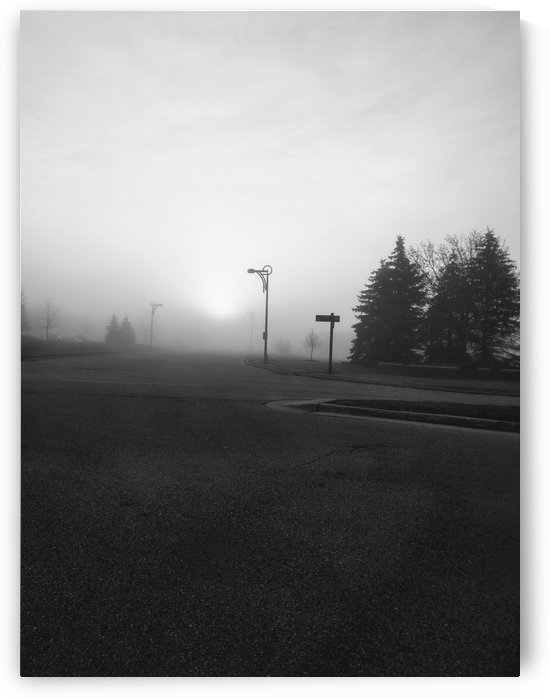 foggy morning intersection by Wendy A Rohn