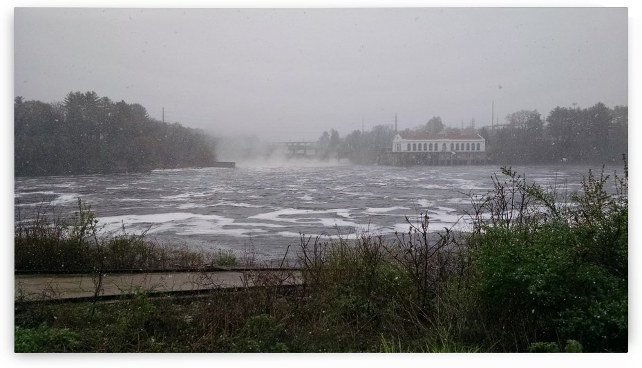 storm churned river by Wendy A Rohn