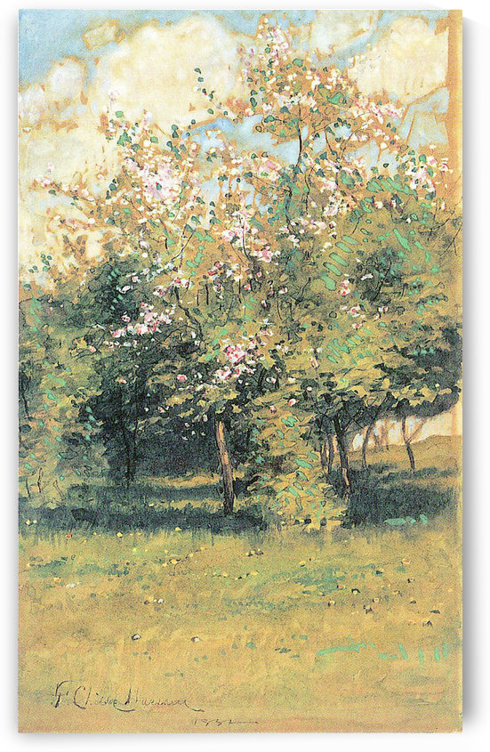 Blooming Trees by Hassam by Hassam