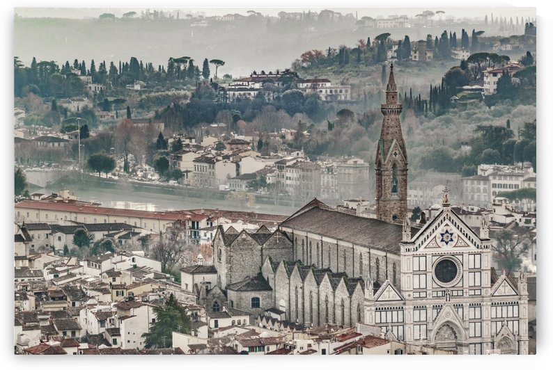 Aerial View Historic Center of Florence, Italy by Daniel Ferreia Leites Ciccarino