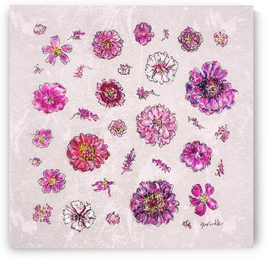 Pink Flowers by Gerri Findley