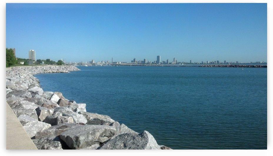 Milwaukee skyline by Wendy A Rohn