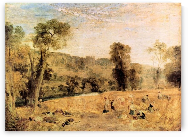 Cassiobury Park - Harvest by Joseph Mallord Turner by Joseph Mallord Turner