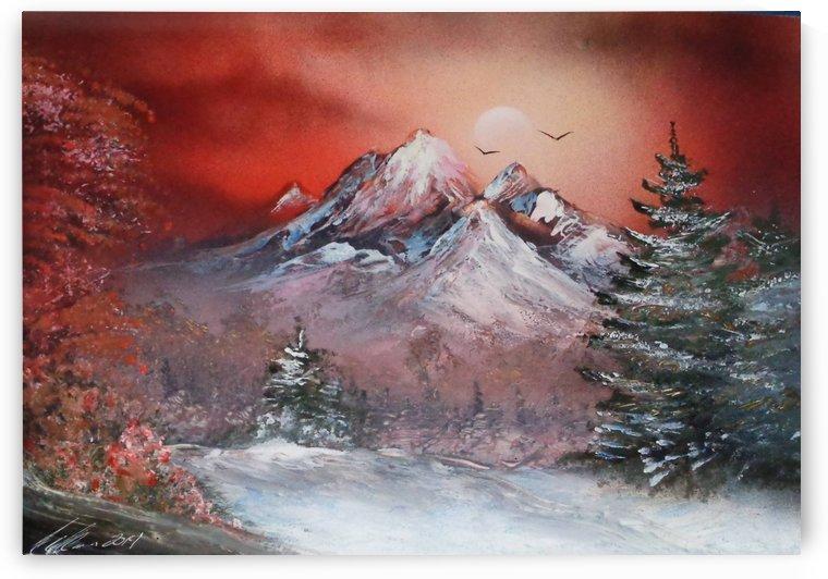 Winter sunset by Alisa Amor