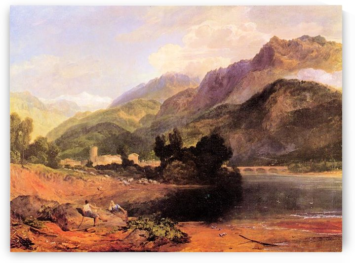 Castle of St. Michael, near Bonneville, Savoy by Joseph Mallord Turner by Joseph Mallord Turner