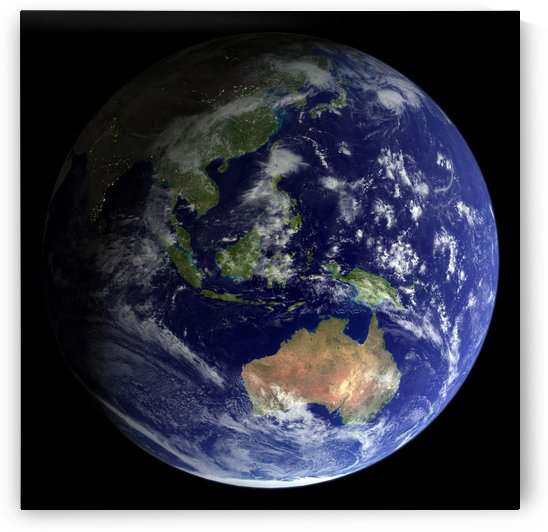 Full Earth from space showing Australia by StocktrekImages
