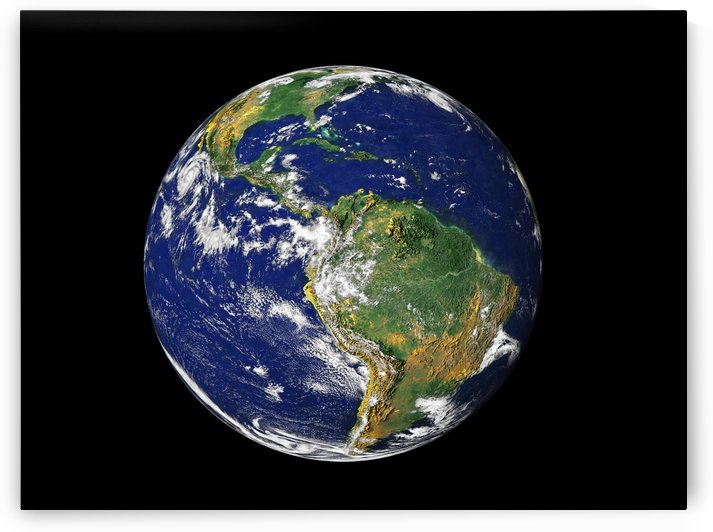 Full Earth showing South America. by StocktrekImages