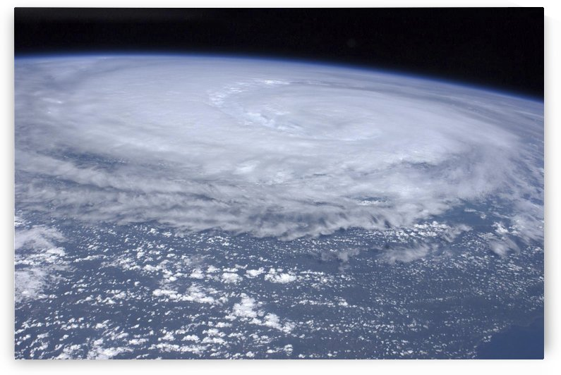 View from space of Hurricane Irene off the east coast of the United States. by StocktrekImages