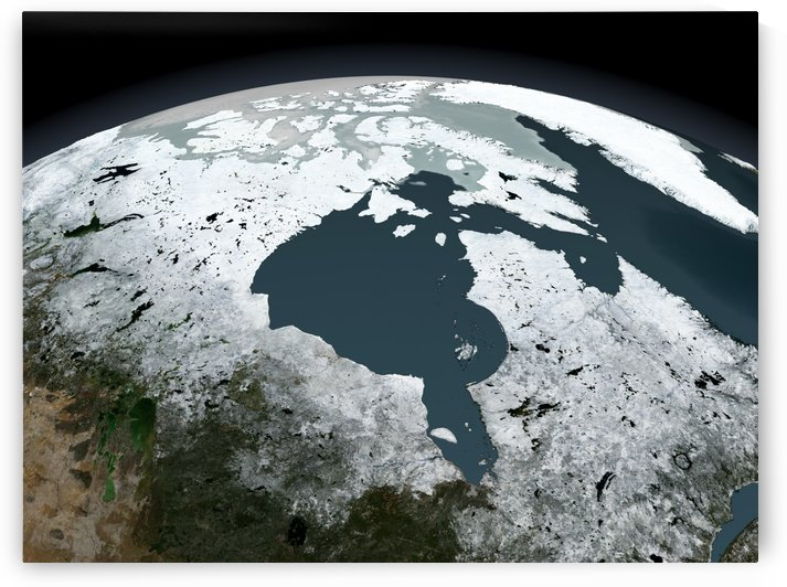 Hudson Bay sea ice on November 14 2005. by StocktrekImages