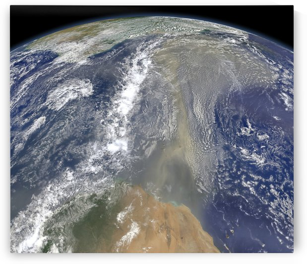 Dust heading west toward South America and the Gulf of Mexico.. by StocktrekImages