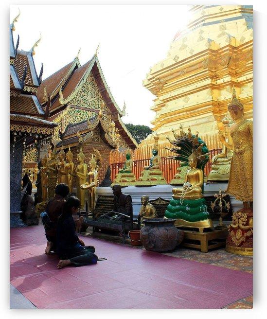Praying at Doi Suthep by Galaa