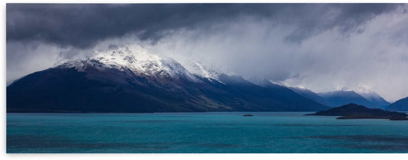 Lake Wakatipu between Queenstown and Glenorchy New Zealand by Madame B